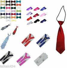 BUY 2 GET 1 FREE NEW PRETIED KIDS BOYS CHILD PET PREMIUM BOW TIE TIES WEDDING