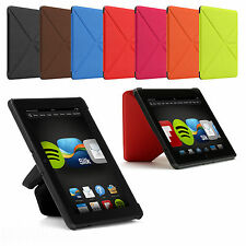 ORIGAMI THIN SMART STANDING LEATHER CASE COVER FOR NEW AMAZON KINDLE FIRE HDX 7""