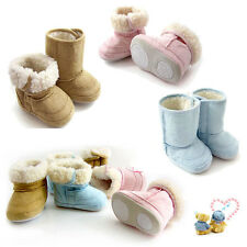 Popular Fur Snow Shoes Boots Winter Warm Non-slip Sole For Baby Infant Toddler