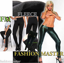 Womens Ladies Full Thick Fleece Thermal Body Warmer Stretch Tights Leggings 8-14