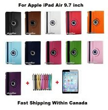 Black 360 Rotating PU Leather Case Cover Apple iPad Air 9.7 '' + Pen + Protector
