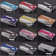 For Apple iPhone 4 4S Aluminum Steel Luxury Cell Phone Hard Cover Case Skin+Gift