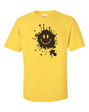 Mud Splatter Smiley Face Smile Forrest Gump Movie Men's Tee Shirt