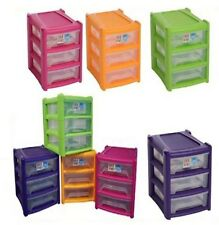 NEW UNI SHALLOW 3 DRAWER PLASTIC STORAGE UNIT FOR HOME/OFFICE/BEDROOM/STUDY~