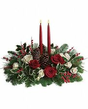 Christmas Wishes Centerpiece - Flower Delivery Christmas Flowers