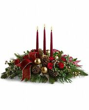 Teleflora's All is Bright fresh centerpiece - Flower Delivery Christmas Flowers