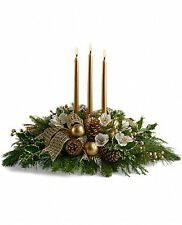 Royal Christmas Centerpiece T131-3A - Flower Delivery Christmas Flowers