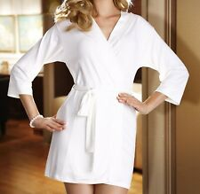 "Ladies Ecru (Light Creme) Dressing Gown / Robe with Belt ""Lucy"" - S M L XL"