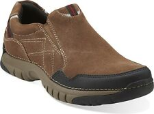 CLARKS MEN'S ROEBLING TWIN BROWN SUEDE SLIP ON STYLE # 66048