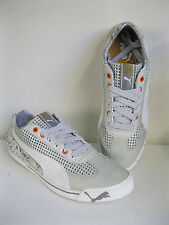 MENS/ UNISEX PUMA SPEED CAT GREY LEATHER & SYNTHETIC LACE UP TRAINERS