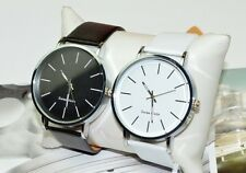 Luxury Fashion Men Woman Leather Casual Quartz Wrist Watch 7486