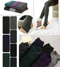 Winter Warm Cotton Knit Thick Stretchy Pantyhose Stirrup Leggings Tights Pants