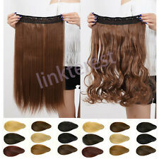 US Heat Friendly CLIP IN HAIR EXTENSIONS any color&length REALISTIC HAIRPIECE CC