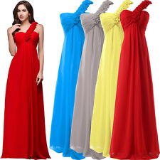 One Shoulder Long Formal Prom Cocktail Party Evening Bridesmaid Dress Plus 2-24W