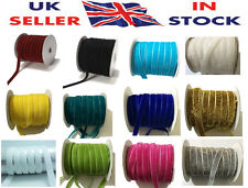 Luxury British Velvet Ribbon 10mm(3/8 Inch) in Different Lengths and Colors