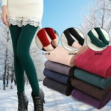 Warm Women Winter Leggings Thick Stretch Skinny Pants Trousers 3 Types