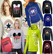 WOMEN'S LADIES NEW CONVERSE ALL STAR JUMPER SWEATSHIRT PULL OVER TOP SIZE /8-14