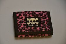 Fuzzy Animal Print Fabric Bike Chain Wallet Punk, Goth and Rocabilly Bikers