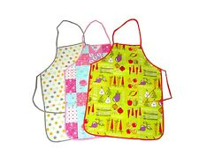 WATER PROOF APRON KITCHEN BAKING UPVC WIPE CLEAN ONE SIZE FITS ALL - VARIOUS