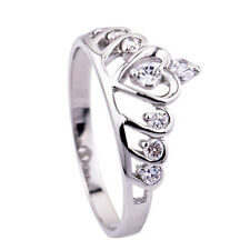 Wholesale STERLING SILVER 925 CZ PURITY Crown Queen Princess Ring GNJ0047