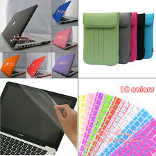 4in1 Rubberized Hard Case+Keyboard Cover+ Foam Bag For Apple Macbook Pro 13''
