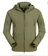 Men Military Hunting Camping Hiking Waterproof Coats Jacket Hoodie Olive Green