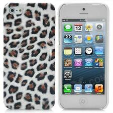 Soft Artificial Leopard Fur Cover Protective Plastic Back for iPhone 4/4S & 5/5S