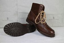 New In Box Brunello Cucinelli Leather With Suede Boots Beautiful Shoes!!
