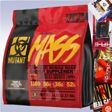 FIT FOODS MUTANT MASS (15 LB +FREE SAMPLE) whey protein waxy maize weight gainer