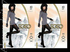 **  Exclusive Warm Patterned Microfiber Tights   Fantasia by Egeo   40 DEN  **