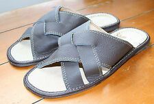MENS SLIPPER MULES ECO-LEATHER - HIGHLENDER SLIPPERS - HAND MADE!!!