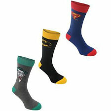 3 PAIRS MENS DC COMICS UK SIZE 7-11 CARTOON SOCKS NEXT DAY POST BLACK BLUE GREY