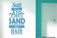 Salt In The Air Sand In My Hair Wall Stickers Decals Art Life Quotes Decor Vinyl