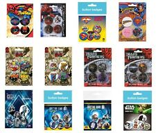 SPIDERMAN superman MARVEL transformers DR WHO star wars - OFFICIAL BADGE PACK