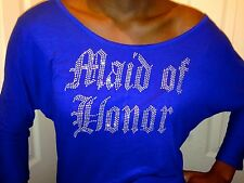 Maid Of Honor scoop neck off the shoulder shirt bridesmaid bachelorette party