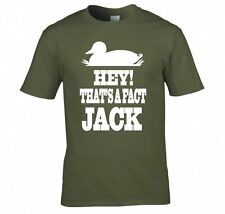 "DUCK DYNASTY ""HEY! THAT'S A FACT JACK"" T SHIRT NEW"
