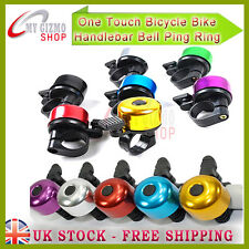 Siren Lever Cycle Push Ride Bike Loud Bell One Touch Bicycle Handlebar Ping Ring