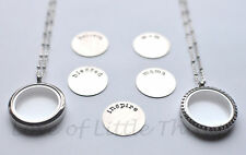 Living Life Locket for Floating Charms 30mm Stainless Steel FREE Chain and Plate