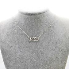 NEW 925 Sterling Silver Infinity Double Knots Necklace Or Bracelet Or One Set