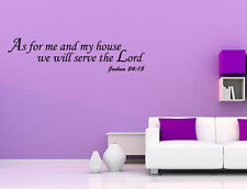 As For Me And My House We Will Serve The Lord Home Vinyl Decal Wall Lettering NR