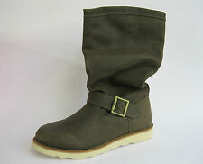 CATERPILLAR LADIES FERN LEATHER MID CALF SLOUCH BOOTS - CLAUDETTE P305761