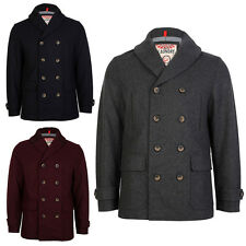 NEW TOKYO LAUNDRY TEHAMA DOUBLE BREASTED BUTTON UP WOOL JACKET COAT SIZE S-3XL