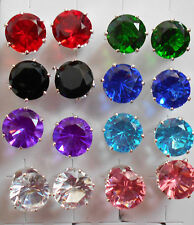 Crystals round large studs earrings in 11 different colours + free stoppers