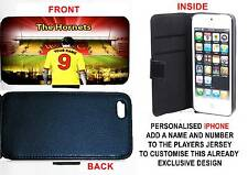 PERSONALISED UNOFFICIAL WATFORD IPHONE PU LEATHER CASE