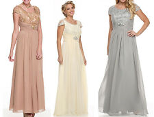 5 COLORS FORMAL OCCASION MOTHER OF BRIDE / GROOM CLASSY EVENING LONG DRESS S-4XL