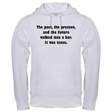 PAST PRESENT FUTURE BAR JOKE TENSE FUNNY DRINK JOKES COLLEGE hoodie hoody