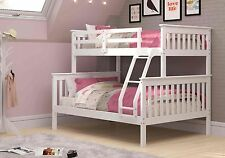 Twin over Full Mission Bunk Bed - White -Kids Furniture