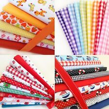 Fat Quarters Fabric Bundles Gingham Boats Flowers Spots Nursery Hearts Animals