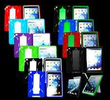Heavy Duty Dual-layers Hybrid W/Stand Silicone & Hard Case Cover For Mini iPad