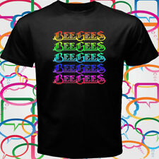 New The Bee Gees Logo Pop Disco Rock Band Men's Black T-Shirt Size S-3XL